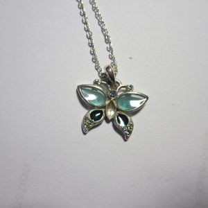 VINTAGE Girls' Butterfly necklace